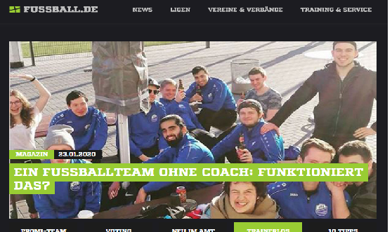 Nippes 3 gibt Interview auf Fussball.de